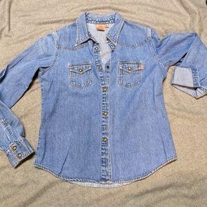Quicksilver Roxy Denim Shirt Size L
